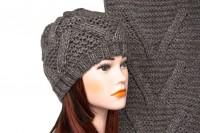 Комплект шапки и шарфа крупной вязки 5001