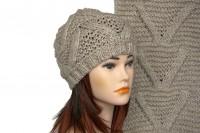 Комплект шапки и шарфа крупной вязки 5003