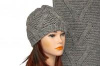 Комплект шапки и шарфа крупной вязки 5004