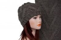 Комплект шапки и шарфа крупной вязки 5005
