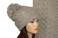 Комплект шапки и шарфа крупной вязки 5027
