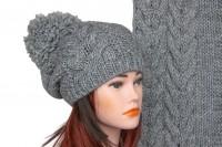 Комплект шапки и шарфа крупной вязки 5026