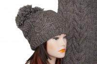 Комплект шапки и шарфа крупной вязки 5028