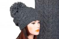 Комплект шапки и шарфа крупной вязки 5029
