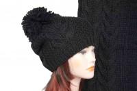 Комплект шапки и шарфа крупной вязки 5030