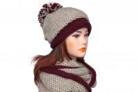 Комплект шапка и снуд крупной вязки 5079