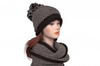Комплект шапка и снуд крупной вязки 5076