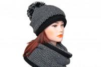 Комплект шапка и снуд крупной вязки 5078