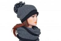 Комплект шапка и снуд крупной вязки 5080