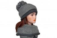 Комплект шапка и снуд крупной вязки 5081