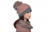 Комплект шапка и снуд крупной вязки 5082