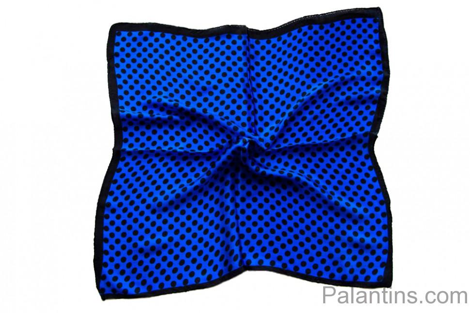 2b7242919ff5 Купить Шейный платок синего цвета в горох